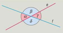 két metsző egyenes
